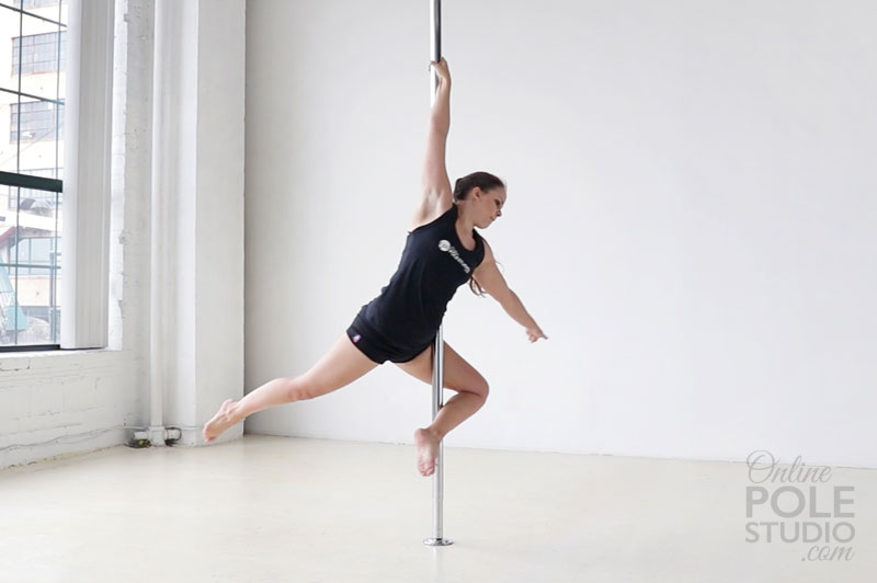 pole dance ballerina
