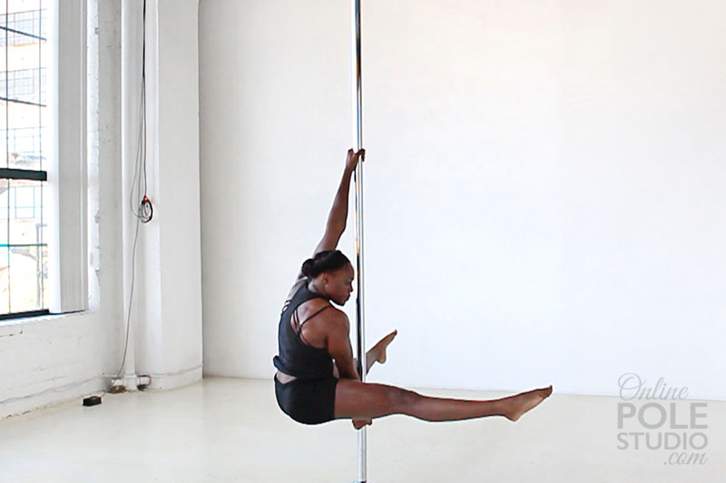 Upright Split Grip Straddle